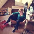 Umzug Nadine in der Kiste