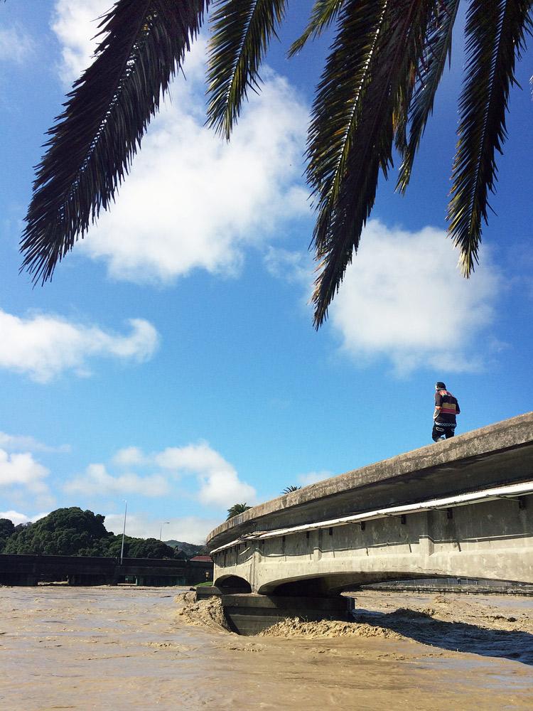 Gisborne-Hochwasser-bridge