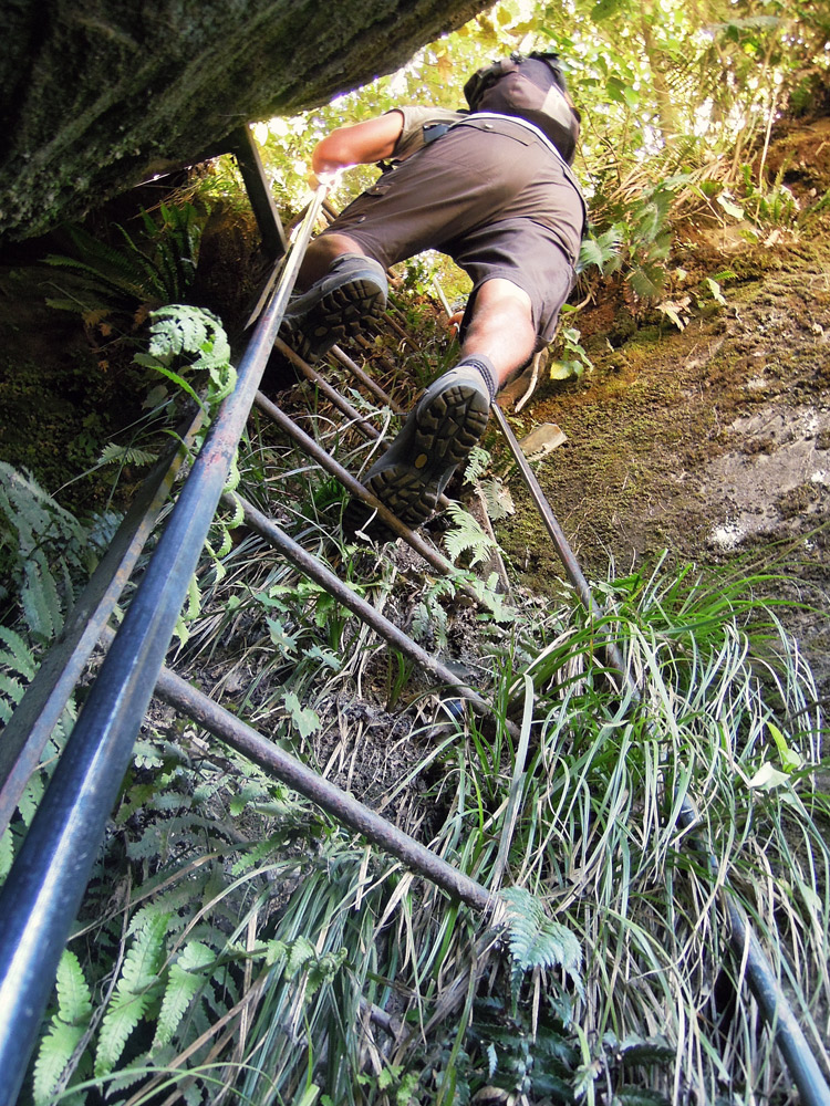 Lake-Waikaremoana-Neuseeland-climbing
